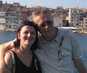 Bosko and Dragana Kovacevic in Rovinj